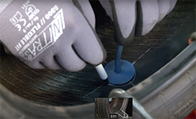 Puncture repair with REMA TIP TOP MINICOMBI